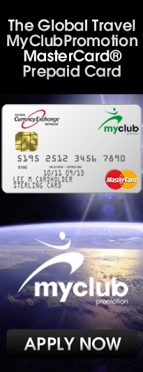 read more and apply for a Global Travel MyClubPromotion MasterCard Prepaid Card