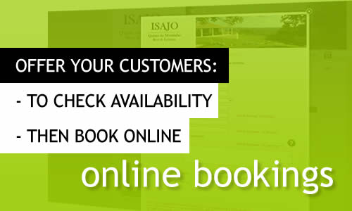 Your clients can book online via your website