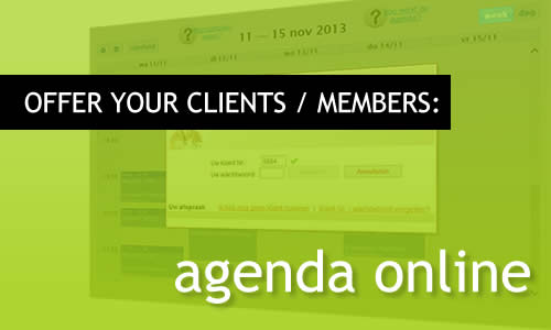 MR Websites: offer your customers to make an appointment in your agenda.