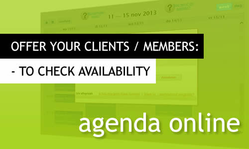 MR Websites: have your clients check when you are available.
